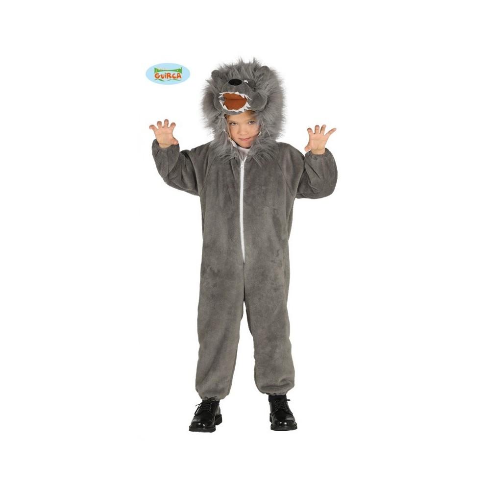Vestiti Halloween Bambina 3 Anni.Costume Carnevale Lupo Bambini 3 4 Anni Vestito Completo Tuta Con Capuccio Per Travestimenti Animali Selvaggi Predatori