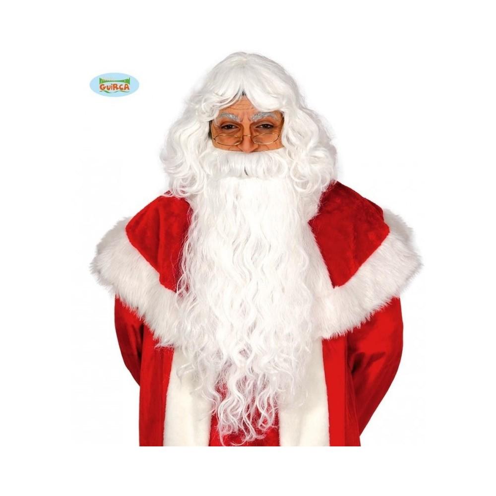 Toyvian parrucca e barba di Babbo Natale set parrucca barba bianca copricapo puntello cosplay per natale